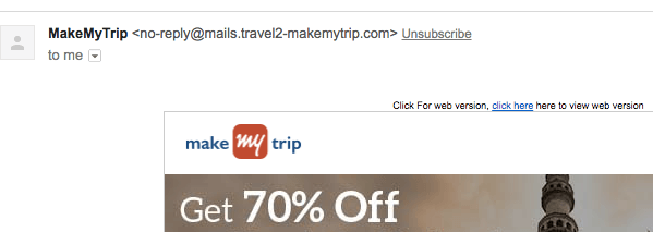 unsubscribe-link-makemytrip, build an email subscriber list