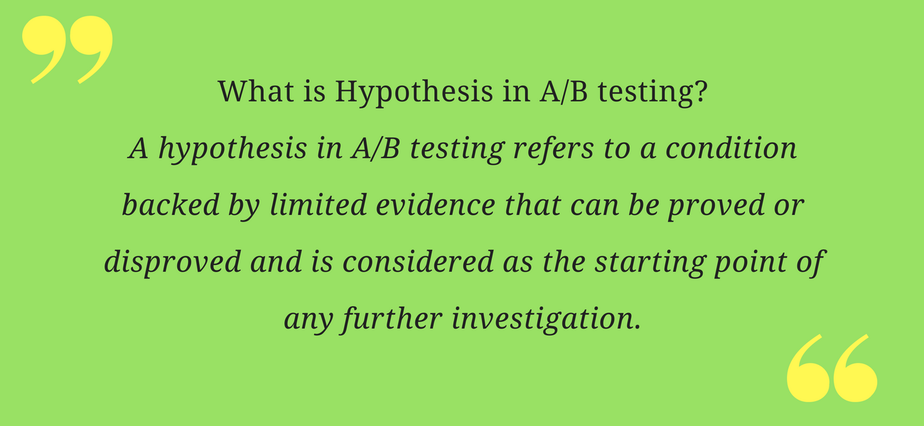 AB testing-hypothesis