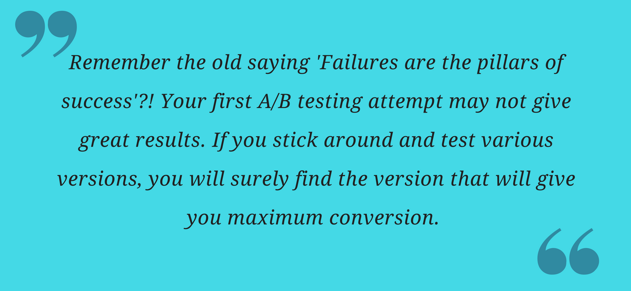AB testing-takeaway