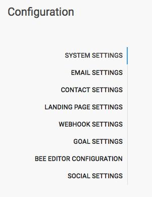Configuration-settings